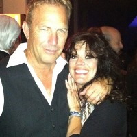 Patti Russo with Kevin Costner