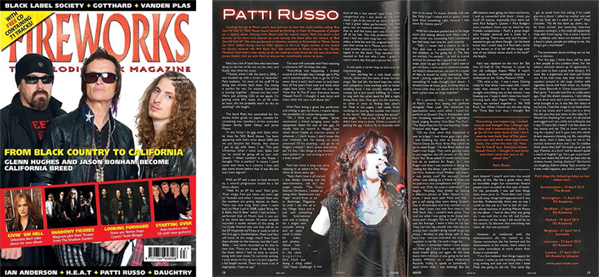 Fireworks Magazine Patti Russo interview