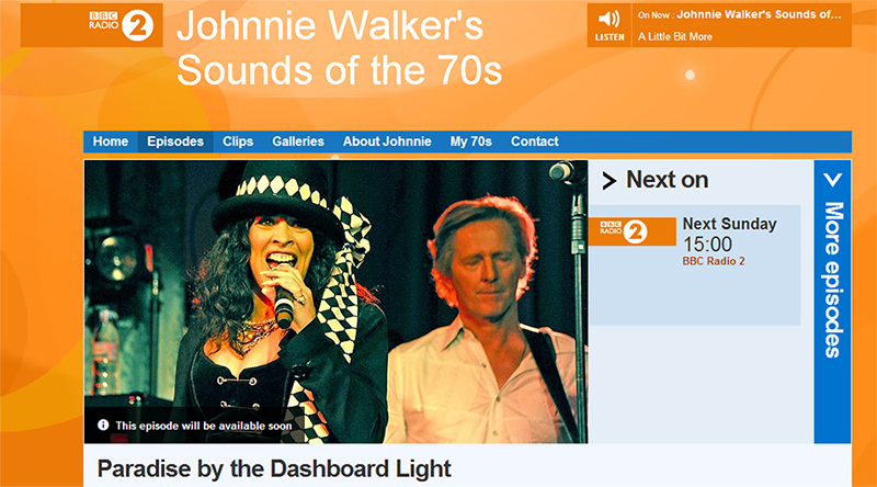 Patti Russo BBC Radio 2 Johnnie Walker